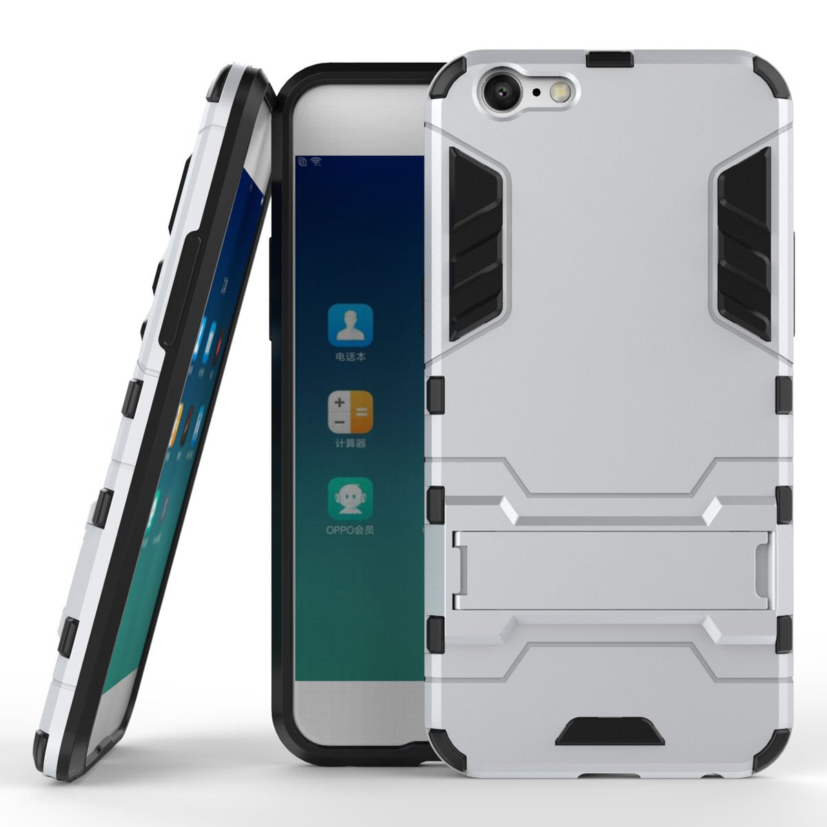 new styles f6485 7b4b3 Amazon.com: Oppo A57 Hybrid Case, Oppo A57 Shockproof Case, Dual ...