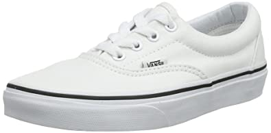 373703f84 Vans Unisex Era Skate Shoe True White 4.5 D(M) US