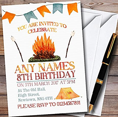 amazon com campfire camping personalized childrens party