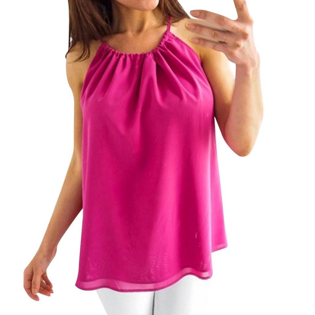 ❤ Chaleco sin Mangas para Mujer, Camiseta de Blusa Casual de Cuello Alto de O Chiffon de Moda Absolute: Amazon.es: Ropa y accesorios