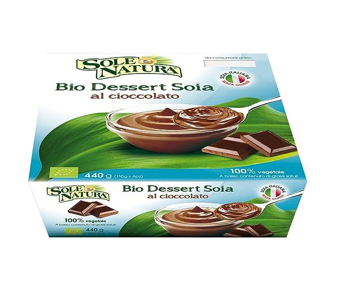 Sole E Natura Postre de Soja Al Chocolate - 4 unidades