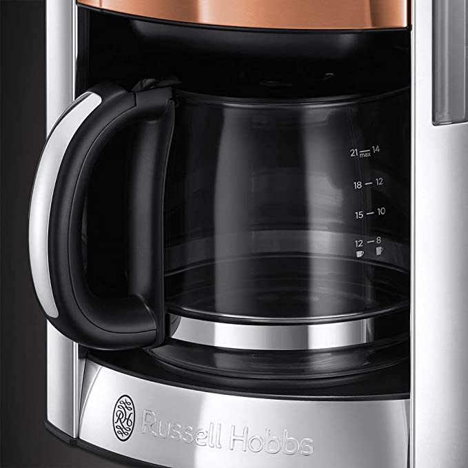 Russell Hobbs Luna Copper - Cafetera de Goteo (Jarra Cafetera para 14 Tazas, 1000 W, Acero Inoxidable) - ref. 24320-56: Amazon.es: Hogar