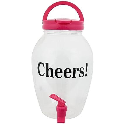 4L gran plástico dispensador de bebida botella con grifo rosca – Cool enfriar bebidas jarra de