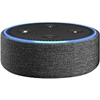 Amazon Echo Dot Case, Charcoal Black Fabric