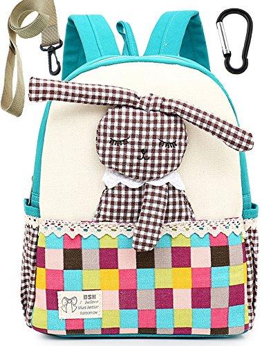 Préscolaire 1 Fille Dos Bambin Lapin Sac Enfant Maternelle Garderie A Cartable Bleu 3ans Vert Chat FP0n7