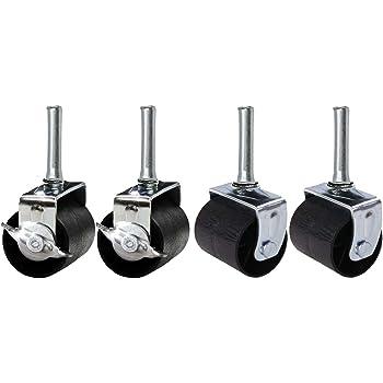 Amazon Com 2 Quot Inch Low Profile Trundle Casters Wheels