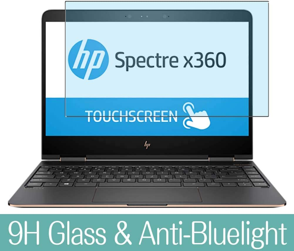 Synvy Anti Blue Light Tempered Glass Screen Protector Compatible with HP Spectre x360 13-ac003na 13.3 inch Visible Area 9H Protective Screen Film Protectors (Not Full Coverage)