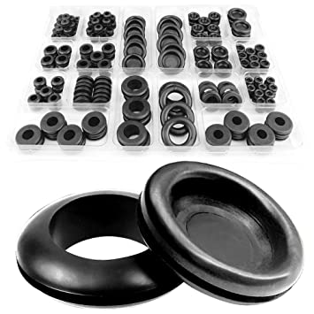 DSL 200pcs 18 Sizes Rubber Grommet Kit Electrical Conductor Wiring on