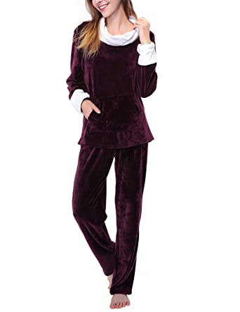 c45f620ef016 Super Warm Fleece Pajamas Purple Plush Pajama Top Fleece Fuzzy Sleepwear  Petite