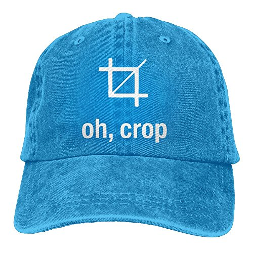 Qbeir Oh, Crop Adjustable Adult Cowboy Cotton Denim Hat Sunscreen Fishing Outdoors Retro Visor -
