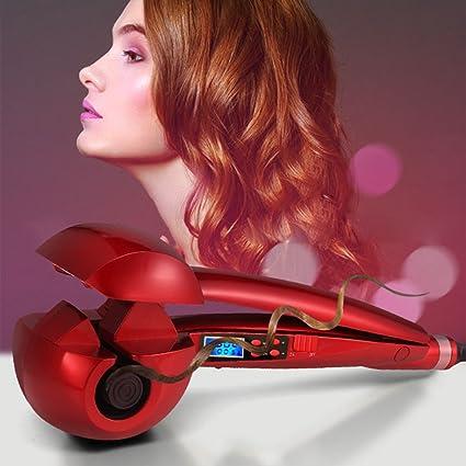 Salon-Rizador de Pelo Perfessionale-Smart Arriccciatore Automático Pantalla LCD de Pelo Iónico Placa