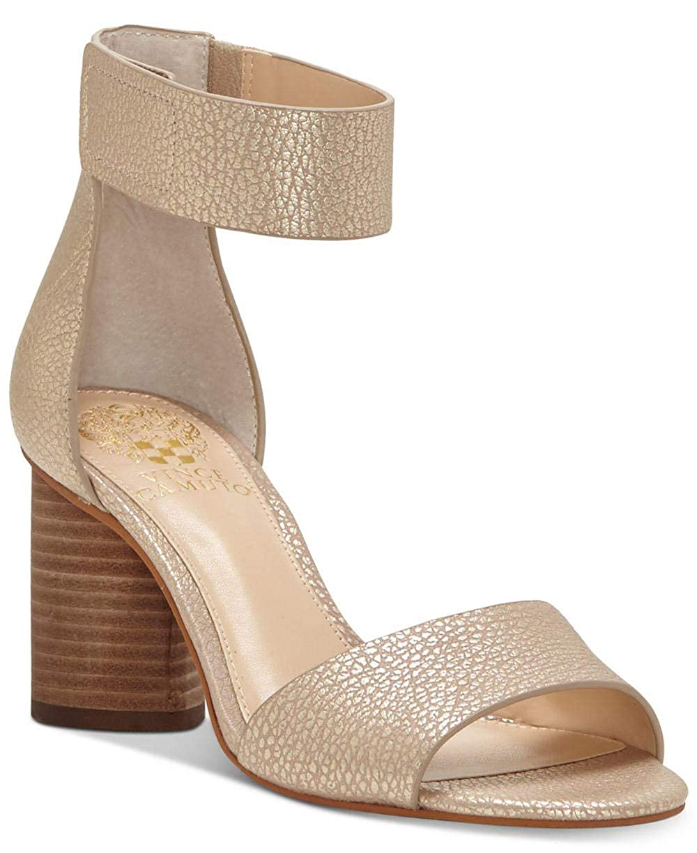 Metal Sand Vince Camuto Women's Jacon Leather W Ankle-High Leather Pump