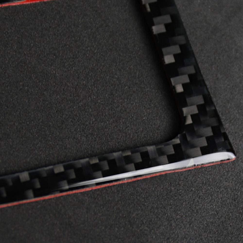 TOOGOO Per Audi A5 A4 B8 2009-2015 in Fibra di Carbonio Trim Cup Holder Cornice Decorativa Decal Cover Cover Car Styling