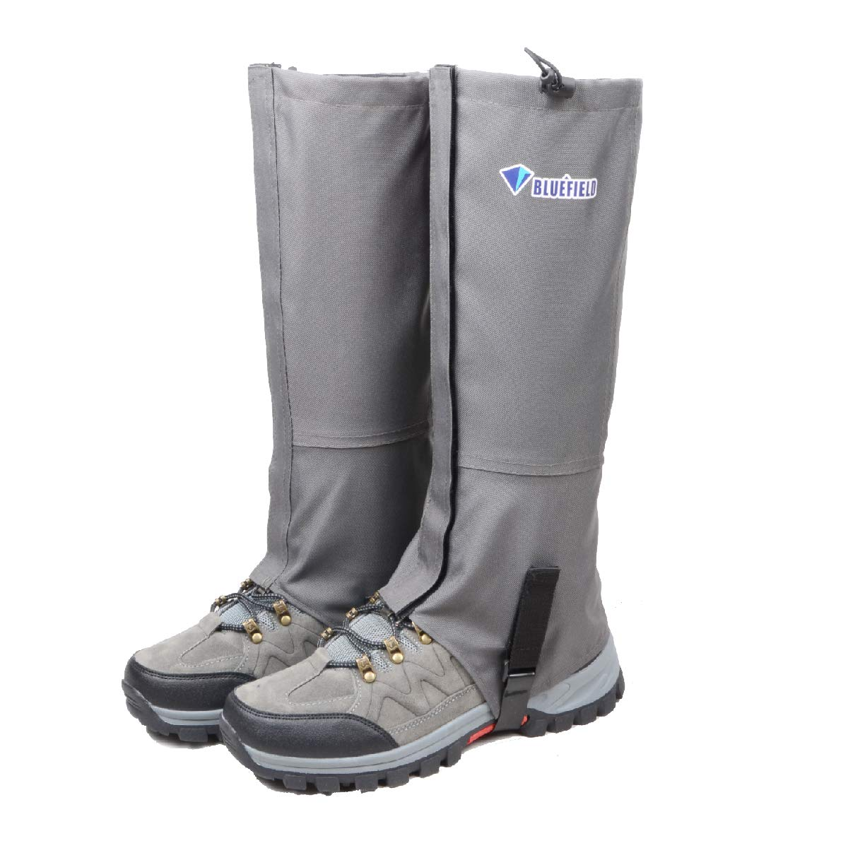 TRIWONDER Leg Gaiters Waterproof Snow Boot Gators Hiking Gaiters Men Women for Walking Climbing Hunting Cycling Backpacking Lightweight Rain Shoe Gaiters (1 Pair) (Grey, XL) by TRIWONDER