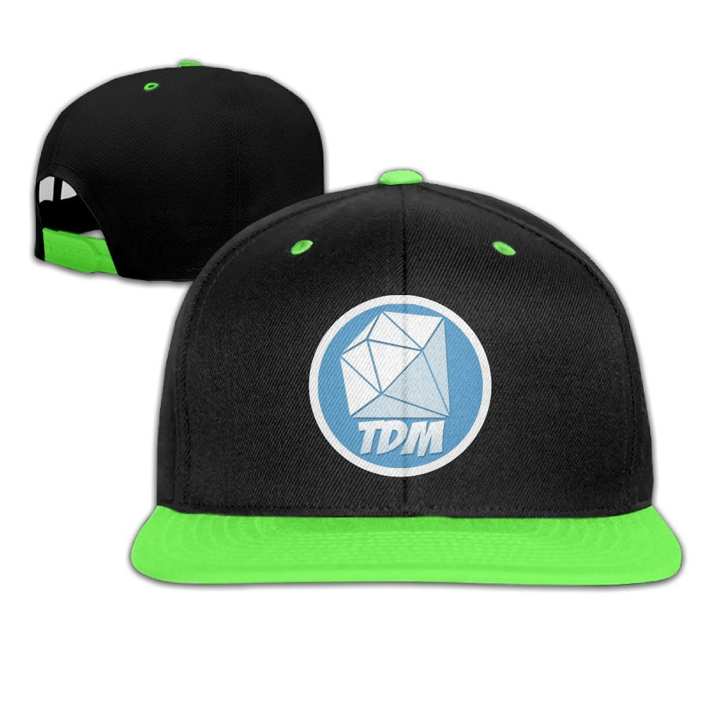 Hittings Youtube dantdm Logo Kid\' s Adjustable Snapback Hat Baseball Caps Kelly Green