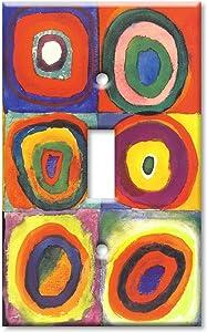 Art Plates/Single Gang Toggle Switch Plate/Kandinsky: Farbstudie Quadrate