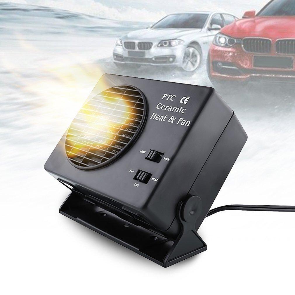 Ulable Chauffage en céramique pour voiture, 300W, 12V, dégivreur à pare-brise, système anti-buée, ventilateur à air chaud 300W 12V dégivreur à pare-brise système anti-buée