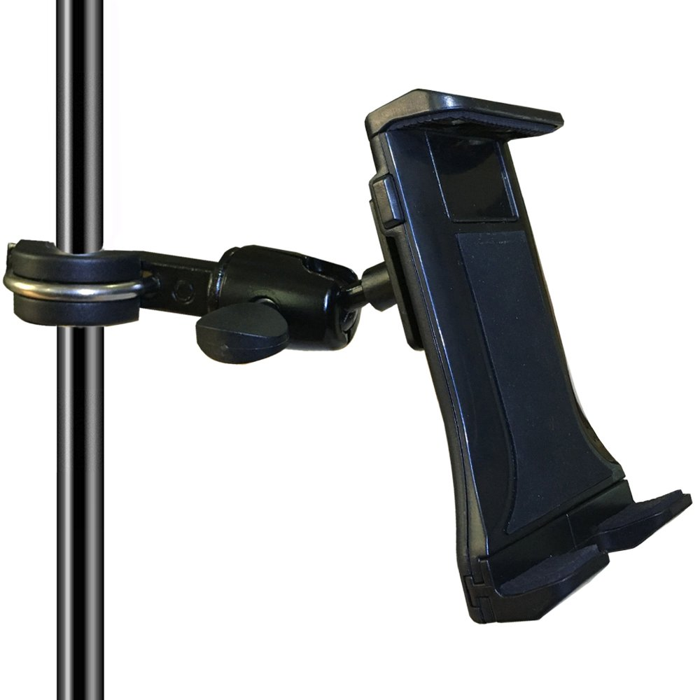 Etubby 4-12.5 Inches Music/Microphone Stand Tablet Holder Aluminum Alloy Phone Cradle Mount for Apple iPhone iPad, Google Nexus, Galaxy Tab and Any Other 4-12.5 Smartphones & Tablets