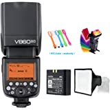 Godox V860II-C E-TTL HSS 1/8000s 2.4G GN60 Li-ion Battery Camera Flash Speedlite Light Compatible for Canon EOS Cameras + USB LED