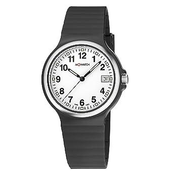 Silikonband Swiss Damen Herren Mit Schwarz Maxi DatumsanzeigeLeichtes Watch In Zifferblatt M UhrWeisses Made Rjc3Aq54L