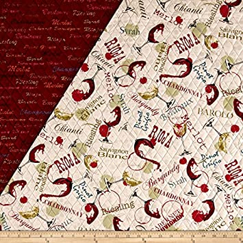 Amazon.com: Wine Country Double Sided Quilted Fabric By The Yard : double faced quilted fabric - Adamdwight.com