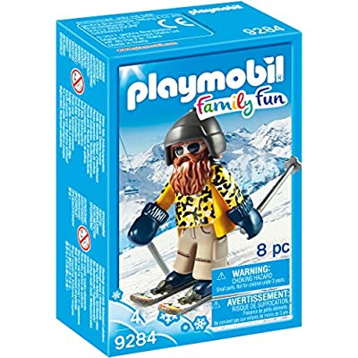 PLAYMOBIL Skier with Poles Building Set: Toys & Games