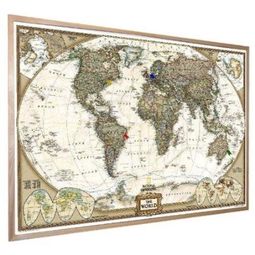Amazon world map national geographic cork pinboard prints amazon world map national geographic cork pinboard prints posters prints gumiabroncs Images