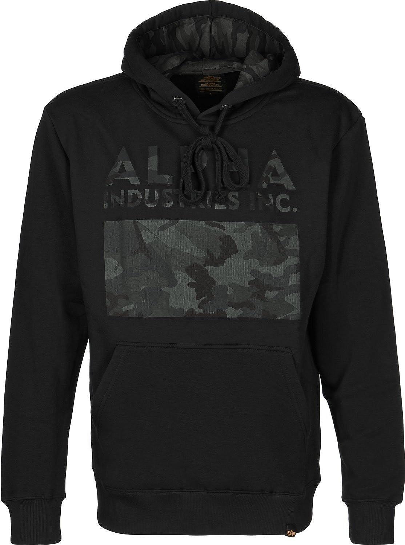 Alpha Industries Hoody Camouflage Print, Größe XL, Farbe schwarz schwarz