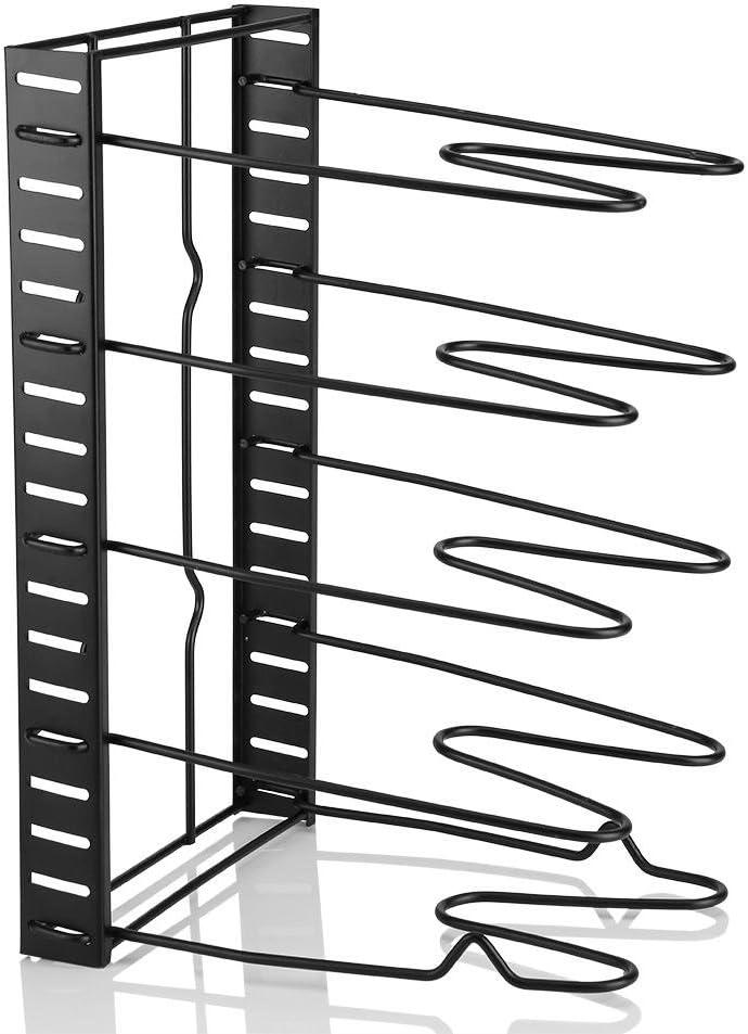 Estante de la Olla de Multi Niveles Soporte de Almacenamiento de Sart/én Tapa de Olla Estanter/ía de Utensilios de Cocina