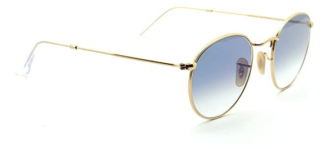 a95bd9cf0a115 Image Unavailable. Image not available for. Colour  Ray-Ban RB3447N 001 3F  ROUND FLAT LENSES Gold Sunglasses ...