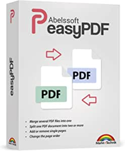 easyPDF - merges PDF files - splits PDF documents - adds and deletes pages - PDF editing software compatible with Windows 10, 8 , 7