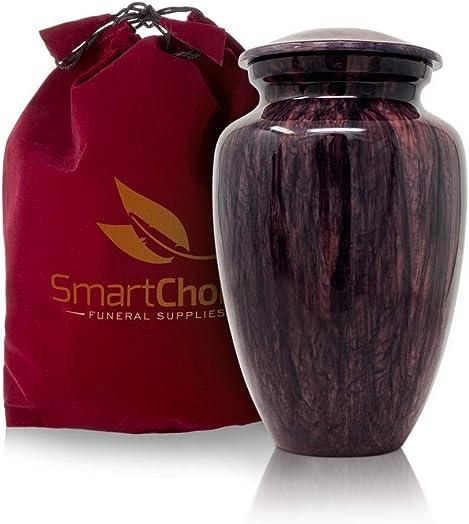 SmartChoice Deep Marbleized Blue Urn Vase