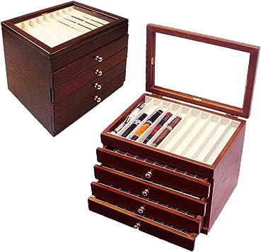 Caja organizadora de 5 capas, de Tanchen, de madera, para pluma estilográfica de gran capacidad, caja organizadora: Amazon.es: Bricolaje y herramientas