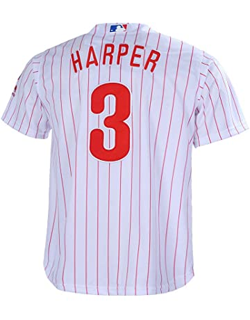 dd988160ce2 Outerstuff Youth 8-20 Bryce Harper Philadelphia Phillies Base Player Jersey