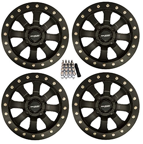 (Raceline Mamba Beadlock ATV Wheels/Rims Black 14