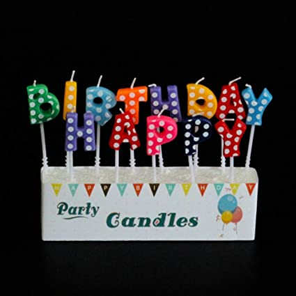 Image Unavailable Not Available For Color Maritown Happy Birthday Letter Candle
