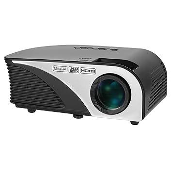 Docooler Rigal 1080P LED Proyector Portátil 1200 lúmenes Proyector ...