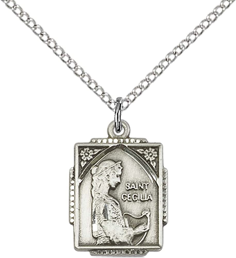 14kt Gold Filled Our Lady of Rosa Mystica Pendant with 18 Gold Filled Lite Curb Chain.