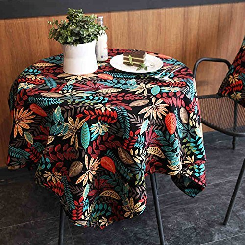 (DIDIDD Maple leaf red waterproof tablecloth rural tropical leaf cotton canvas tablecloth coffee table cloth table cloth dining,140220Cm)