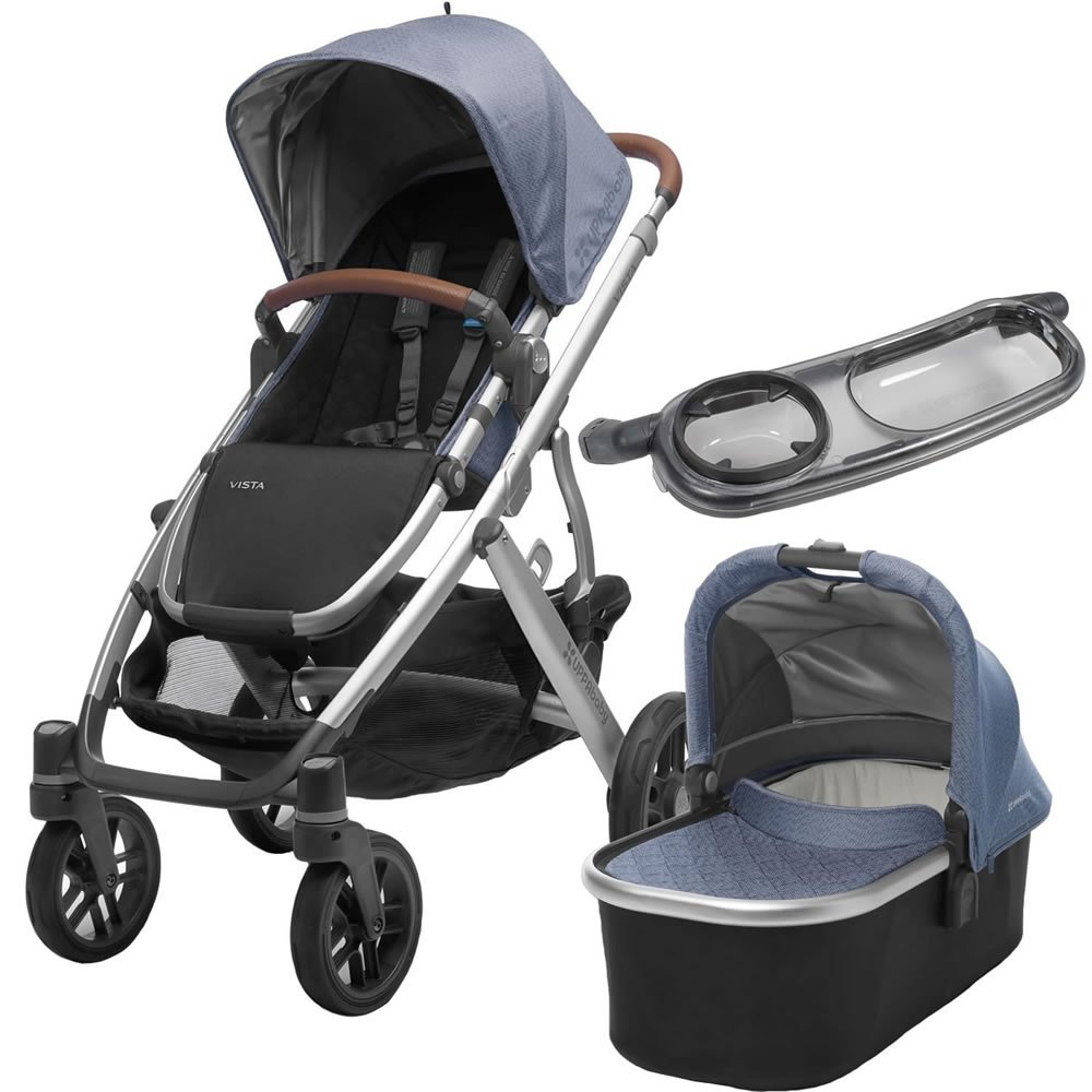 2017 Uppababy Vista Stroller with Bassinet & Snack Tray (Henry)