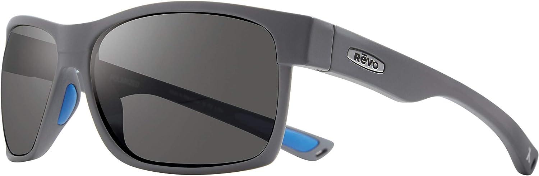 Revo Polarized Sunglasses Maverick x Bear Grylls Wraparound Frame 63 mm Wrap Graphite Matte