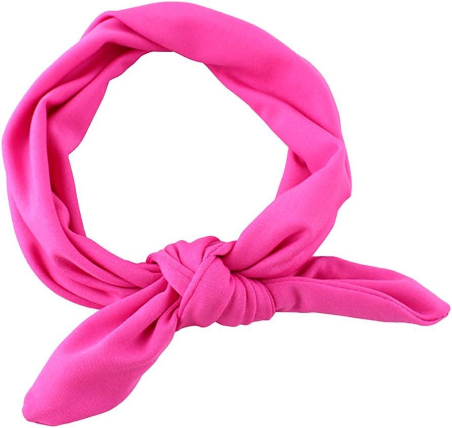 Xiaoyu 7PCS Sweet Baby Girl Multicolor Hair Hoops Headbands,Solid Bunny Ears,Bow Headbands