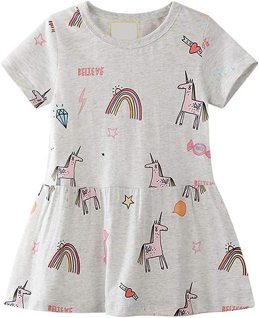 Vestido de algodón de niñas pequeñas Niñas, verano, vestido de ...