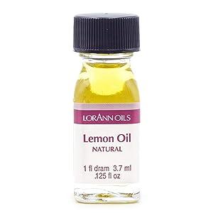 LorAnn Lemon Oil Super Strength, Natural Flavor, 1 dram (.0125 fl oz. 3.7 ml), pure essential oil, food grade, vegan, gluten-free, soy-free, nut-free and low carb