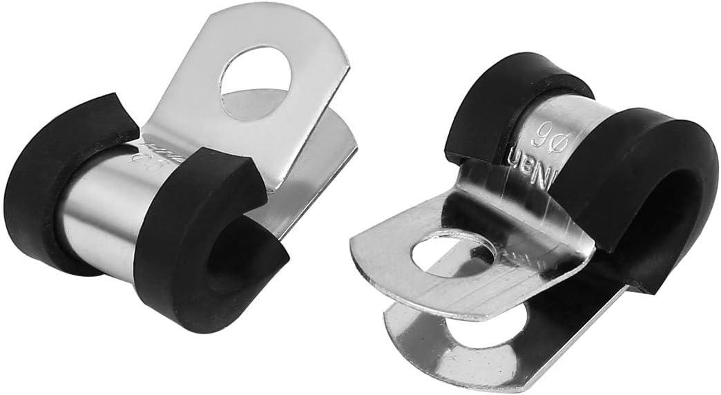 MOPOIN Kabelklemme Typ P Drahtklemmen Kabelklemmen f/ür die Kabelf/ührung Kabelschelle Schwarz 42 St/ücke P Clip Metall Schlauchschellen Sortiment