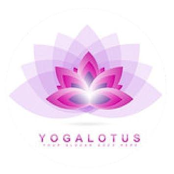alfombrilla de ratón Yoga logotipo de la flor de loto ...