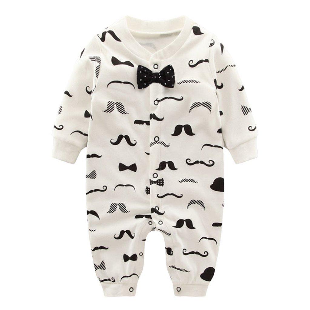 0-3 Months Baby Romper Unisex Jumpsuit Long Sleeve Bodysuit Cotton Sleepsuits