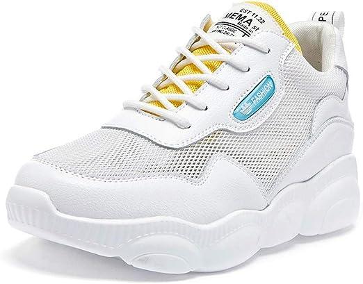 SHOES-HY Zapatos de Gimnasia para Mujer Zapatillas de Deporte Ligeras y Transpirables para Caminar Tenis Deportivo para Trotar Deporte Fitness Golf Zapatillas para Correr,Amarillo,36: Amazon.es: Jardín