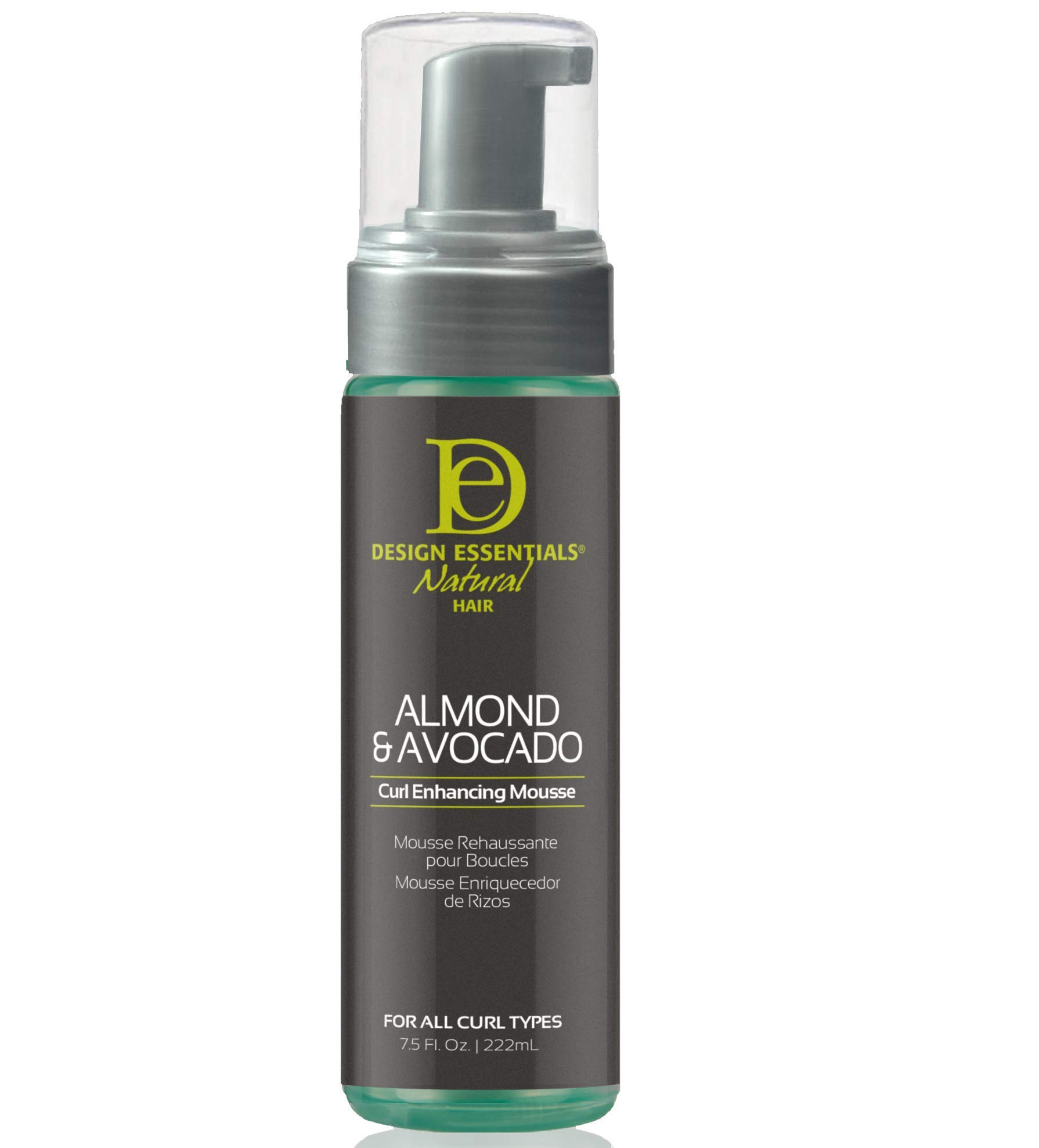 Design Essentials Natural Curl Enhancing Mousse, Quick Drying Must-Have for Perfectly Defined Luminous Curls-Almond & Avocado Collection, 7.5 Fl Oz by Design Essentials