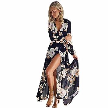 Vestido para mujer LMMVP para señoras con diseño impresión floral